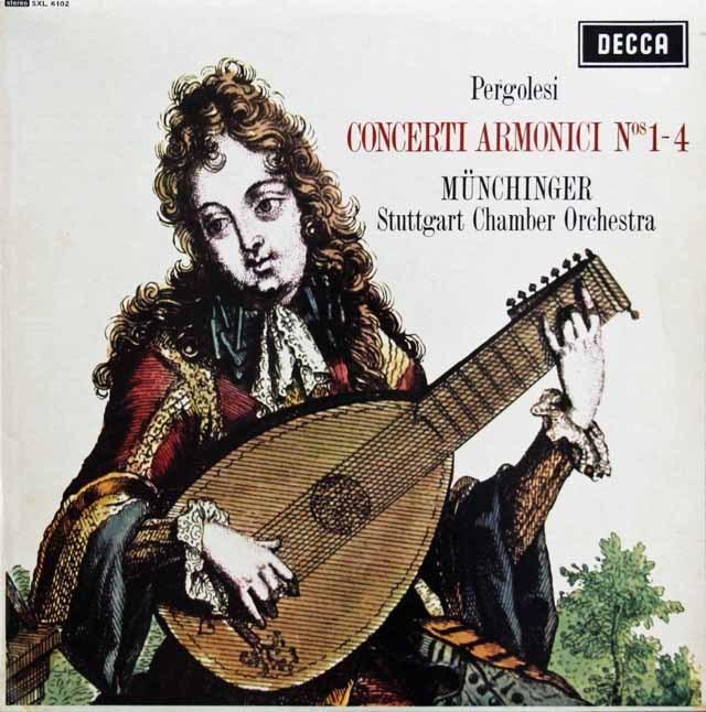 ミュンヒンガーのペルゴレージ/コンチェルティーノ・アルモニコ第1~4番 独DECCA 3217 LP レコード