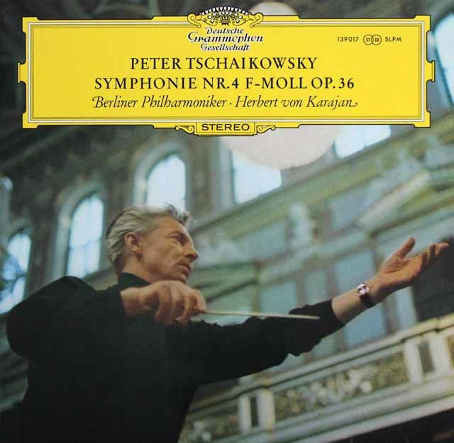 カラヤンのチャイコフスキー/交響曲第4番 独DGG 3217 LP レコード