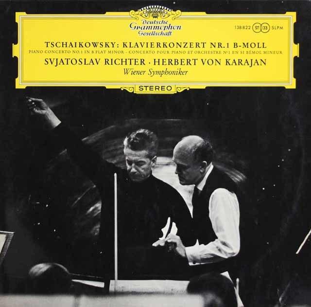 【独最初期盤】 リヒテル&カラヤンのチャイコフスキー/ピアノ協奏曲第1番 独DGG 3217 LP レコード