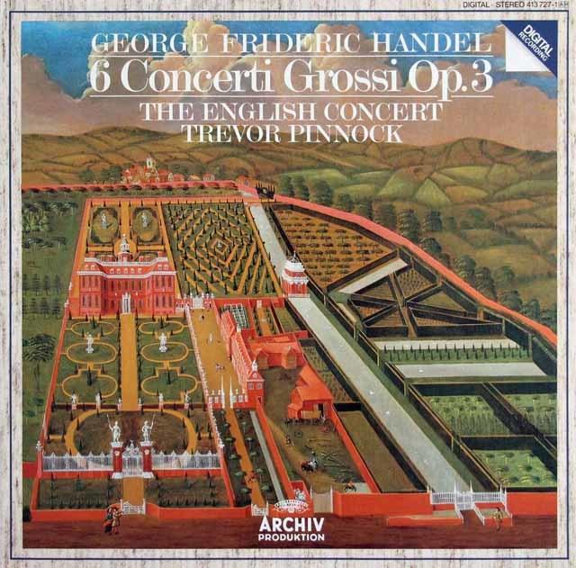 ピノックのヘンデル/6つの合奏協奏曲 独ARCHIV 3217 LP レコード