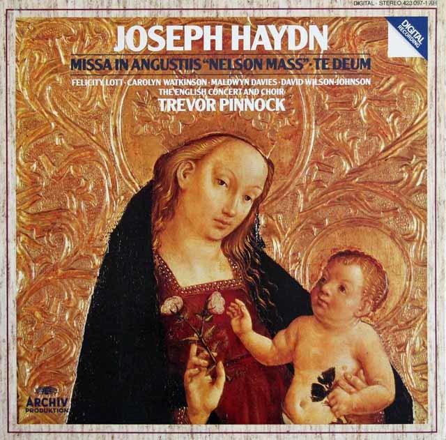 ピノックのハイドン/「ネルソン・ミサ」&「テ・デウム」 独ARCHIV 3217 LP レコード