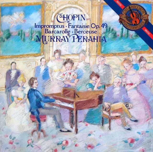 ペライアのショパン/即興曲集ほか 蘭CBS 3217 LP レコード