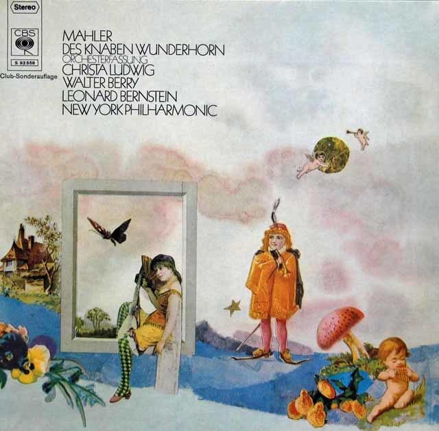 ルートヴィヒ、ベリー&バーンスタインのマーラー/「こどもの不思議な角笛」 独CBS 3217 LP レコード