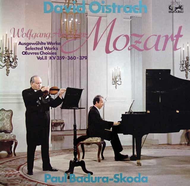 オイストラフ&バドゥラ=スコダのモーツァルト/ヴァイオリンとピアノのための作品集 独eurodisc 3218 LP レコード