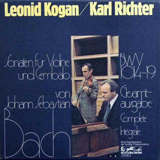 コーガン&リヒターのバッハ/ヴァイオリンとチェンバロのためのソナタ集 独eurodisc 3218 LP レコード