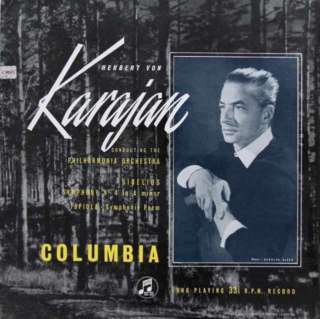 【オリジナル盤】 カラヤンのシベリウス/交響曲第4番&「タピオラ」  英Columbia 3218 LP レコード