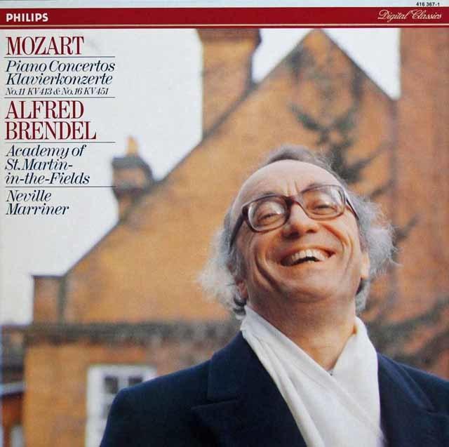 ブレンデル&マリナーのモーツァルト/ピアノ協奏曲第16&11番ほか 蘭PHILIPS 3218 LP レコード