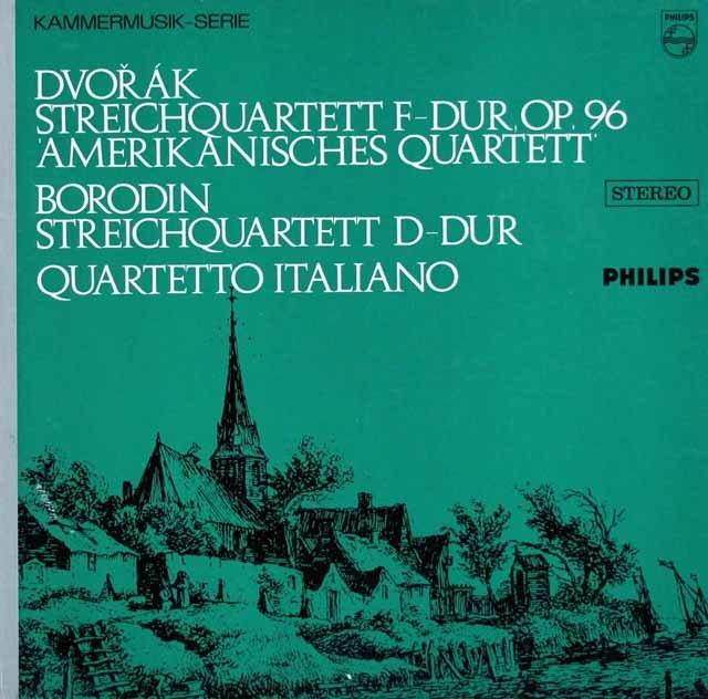イタリア四重奏団のドヴォルザーク/「アメリカ」ほか 蘭PHILIPS 3218 LP レコード
