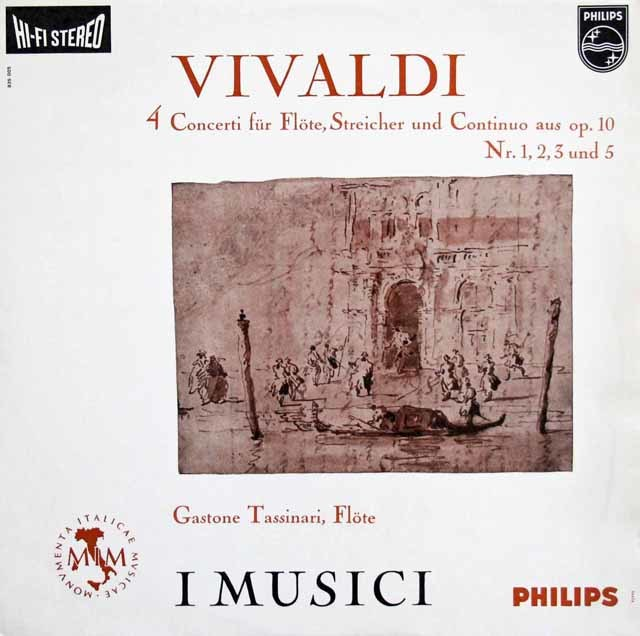 【オリジナル盤】 タッシナーリとイ・ムジチのヴィヴァルディ/フルート協奏曲集  蘭PHILIPS  3218 LP レコード