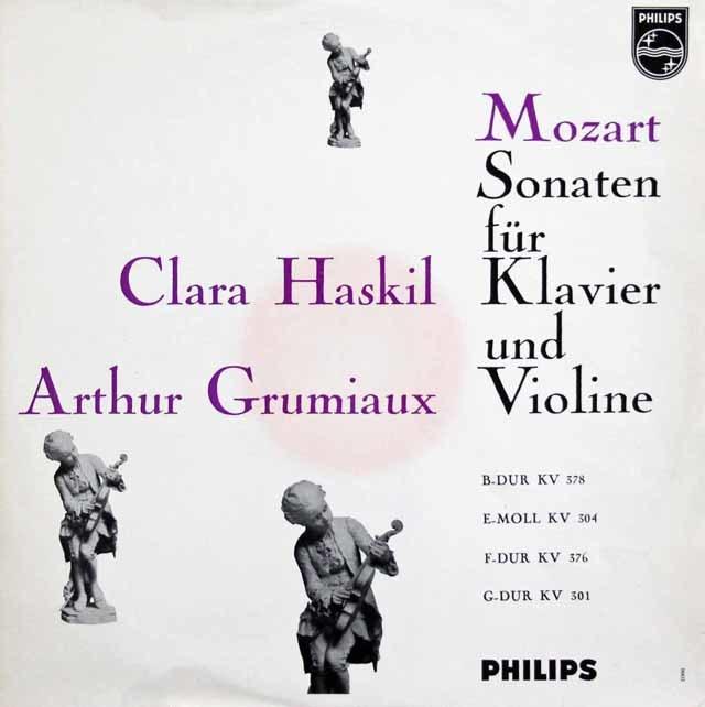 グリュミオー&ハスキルのモーツァルト/ヴァイオリンソナタ集 蘭PHILIPS 3218 LP レコード