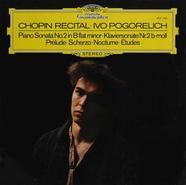 ポゴレリチのショパン/ピアノソナタ第2番ほか    独DGG 3218 LP レコード