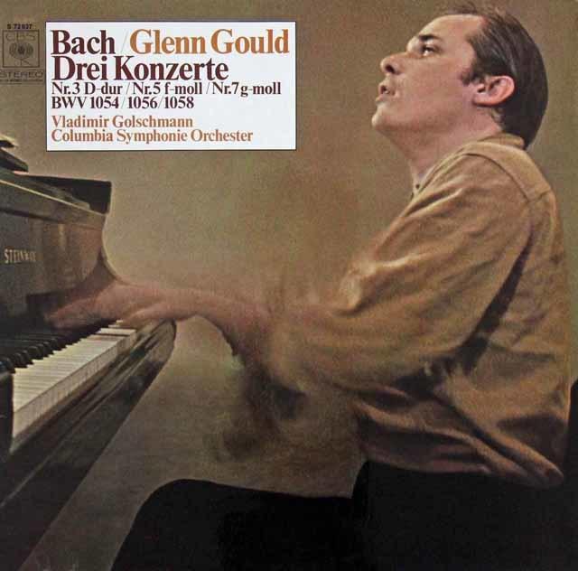 グールド&ゴルシュマンのバッハ/ピアノ協奏曲第3、5、7番 独CBS 3218 LP レコード