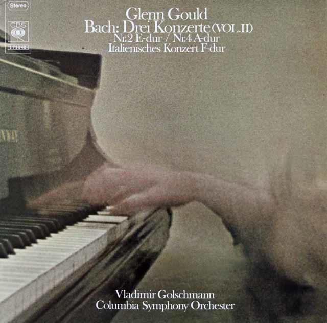 グールド&ゴルシュマンのバッハ/ピアノ協奏曲第2、4番&イタリア協奏曲 独CBS 3218 LP レコード