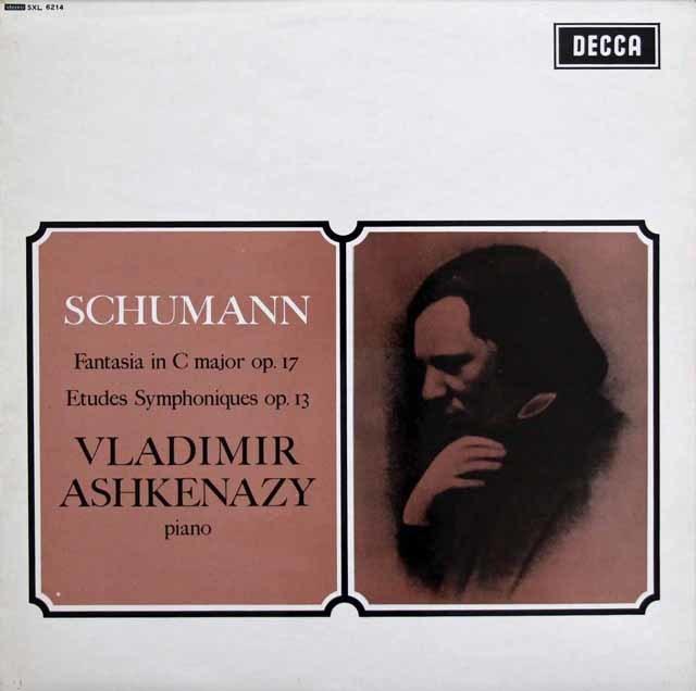 アシュケナージのシューマン/幻想曲、交響的練習曲 英DECCA 3218 LP レコード