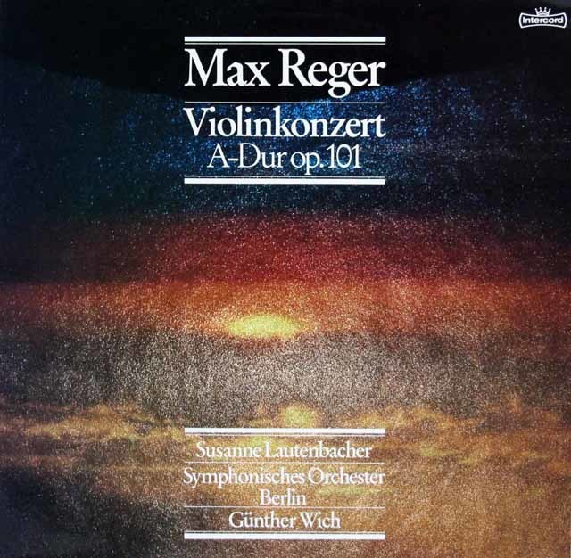 ラウテンバッハーのレーガー/ヴァイオリン協奏曲 独intercord 3218 LP レコード
