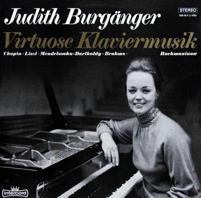 バーゲンガーの「ヴィルトーゾ・ピアノ曲集」 独intercord 3218 LP レコード