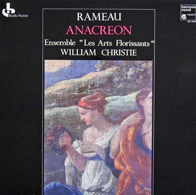 クリスティのラモー/バレエ劇「アナクレオン」 仏HM   3218  LP レコード