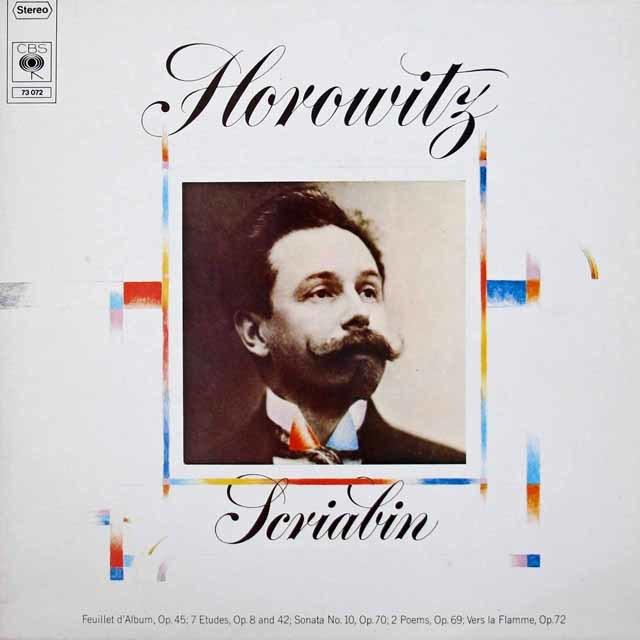 ホロヴィッツのスクリャービン/ピアノソナタ第10番ほか 独CBS 3219 LP レコード