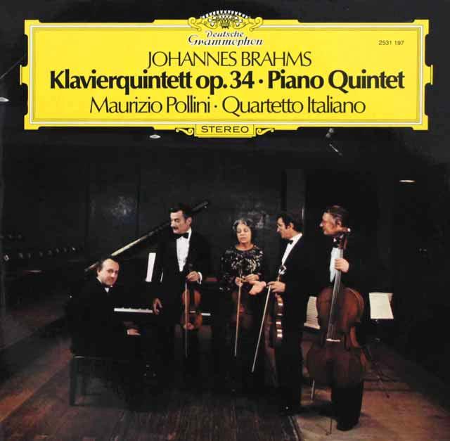 ポリーニ&イタリア四重奏団のブラームス/ピアノ五重奏曲 独DGG 3219 LP レコード