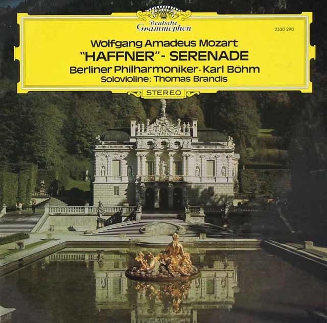 ベームのモーツァルト/セレナード第7番「ハフナー」 独DGG 3219 LP レコード