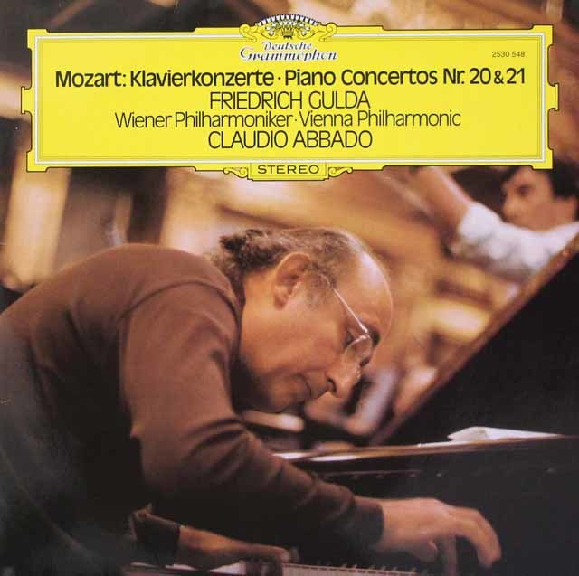 グルダ&アバドのモーツァルト/ピアノ協奏曲第20&21番 独DGG 3219 LP レコード