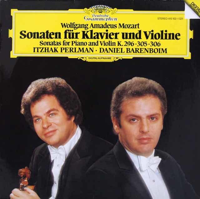 パールマン&バレンボイムのモーツァルト/ヴァイオリン・ソナタ第17、22&29番 独DGG 3219 LP レコード