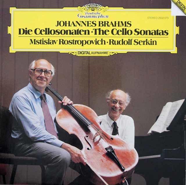 ロストロポーヴィチ&ゼルキンのブラームス/チェロソナタ第1&2番 独DGG 3219 LP レコード