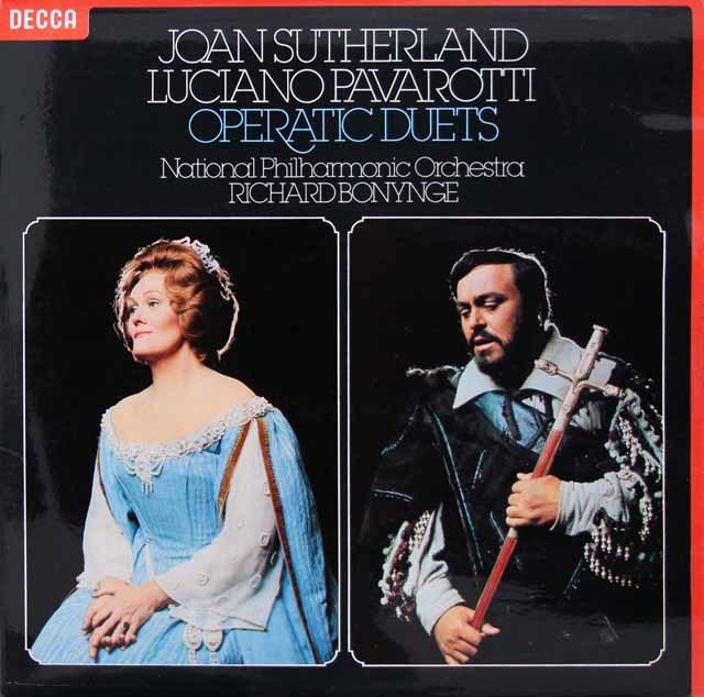 【オリジナル盤】 サザーランド&パヴァロッティのオペラ・デュエット集 英DECCA 3219 LP レコード