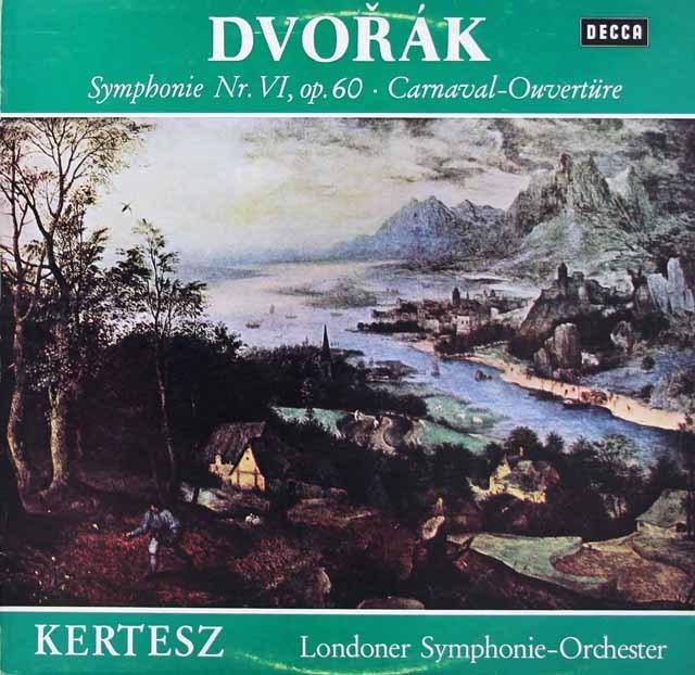 ケルテスのドヴォルザーク/交響曲第6番ほか 独DECCA 3219 LP レコード