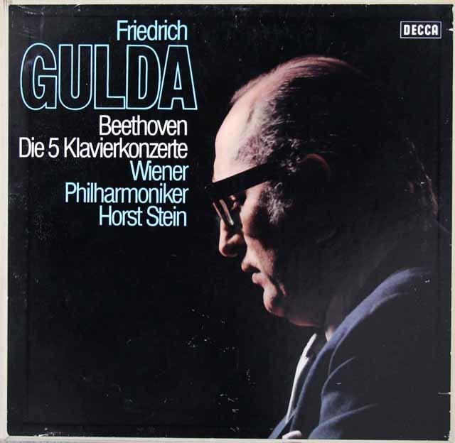 グルダ&シュタインののベートーヴェン/ピアノ協奏曲全集 独DECCA 3219 LP レコード