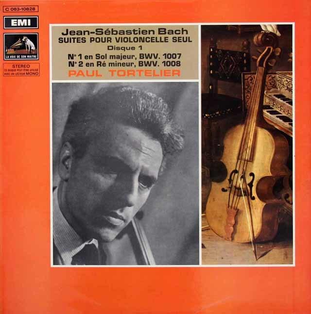 トルトゥリエのバッハ/無伴奏チェロ組曲全6曲 仏EMI 3219 LP レコード