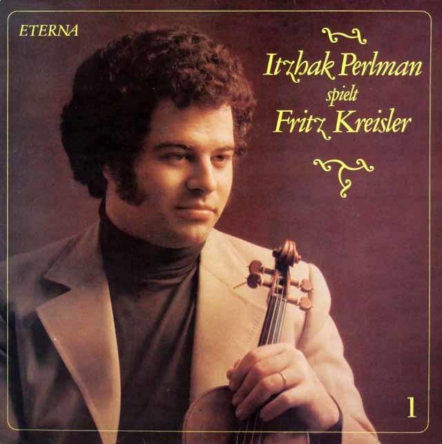 パールマンのクライスラー/ヴァイオリン作品集 vol.1 独ETERNA 3219 LP レコード