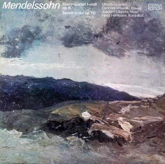 ウルブリヒ四重奏団のメンデルスゾーン/弦楽四重奏曲第6番ほか 独ETERNA 3219 LP レコード