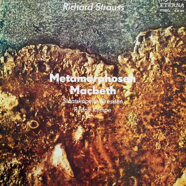 ケンペのR.シュトラウス/「メタモルフォーゼン」&「マクベス」 独ETERNA 3219 LP レコード