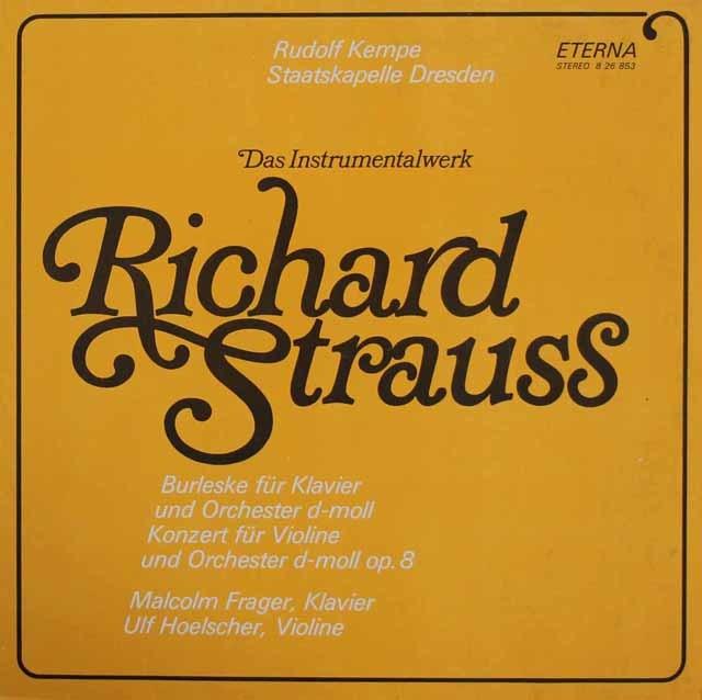 ウルフ・ヘルシャー&ケンペのR.シュトラウス/ヴァイオリン協奏曲ほか 独ETERNA 3219 LP レコード