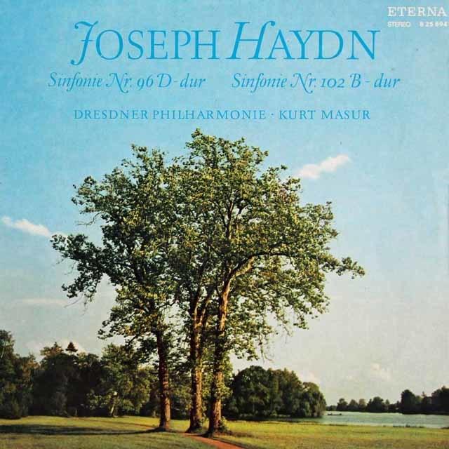 マズアのハイドン/交響曲第96番「奇跡」&第102番 独ETERNA 3219 LP レコード