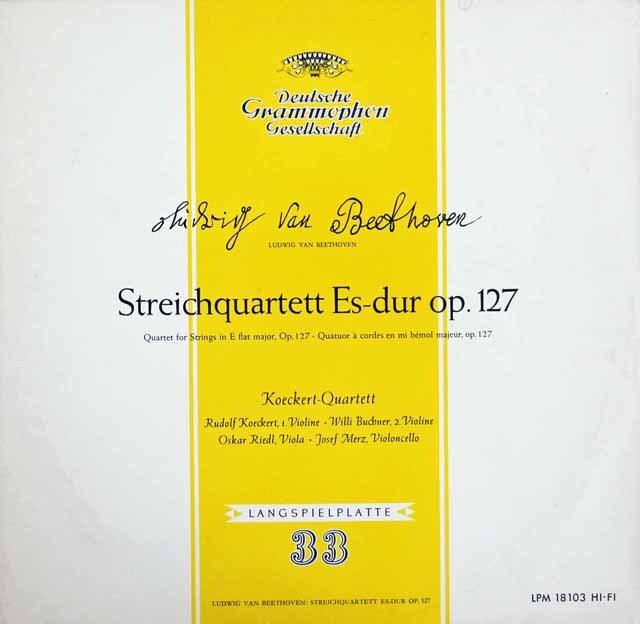 ケッケルト四重奏団のベートーヴェン/弦楽四重奏曲第12番 独DGG 3220 LP レコード
