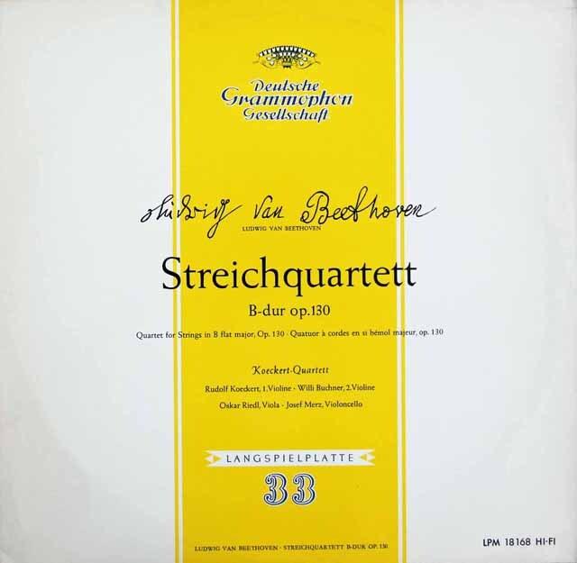 ケッケルト四重奏団のベートーヴェン/弦楽四重奏曲第13番 独DGG 3220 LP レコード