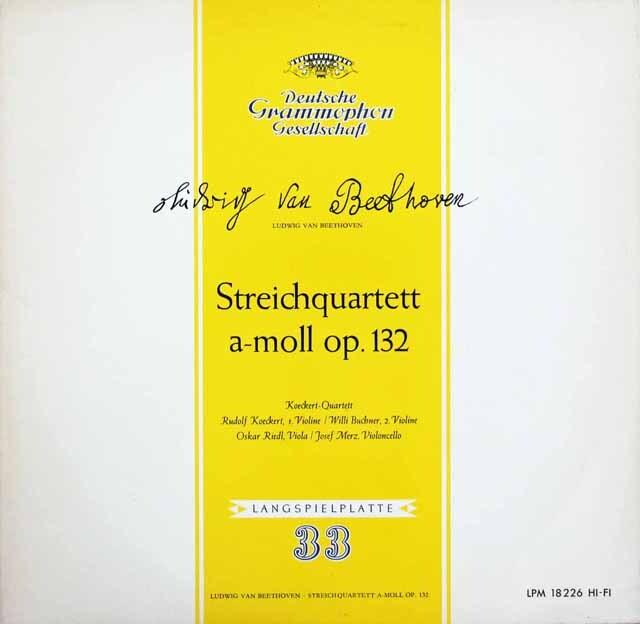 ケッケルト四重奏団のベートーヴェン/弦楽四重奏曲第15番  独DGG 3220 LP レコード