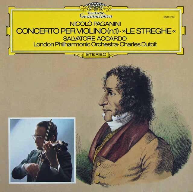 アッカルド&デュトワのパガニーニ/ヴァイオリン協奏曲第1番ほか  独DGG 3220 LPレコード