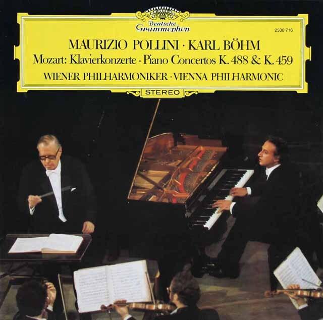 ポリーニ&ベームのモーツァルト/ピアノ協奏曲第19&23番 独DGG 3220 LP レコード