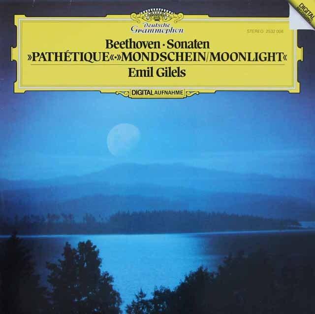 ギレリスのベートーヴェン/ピアノソナタ第14番「月光」ほか 独DGG 3220 LP レコード