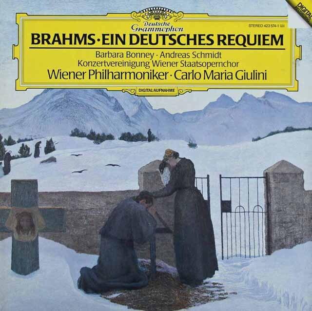 ジュリーニのブラームス/ドイツレクイエム 独DGG 3220 LP レコード