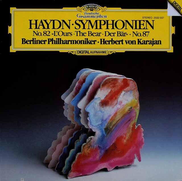 カラヤンのハイドン/交響曲第82番「熊」ほか 独DGG  3220  LP レコード