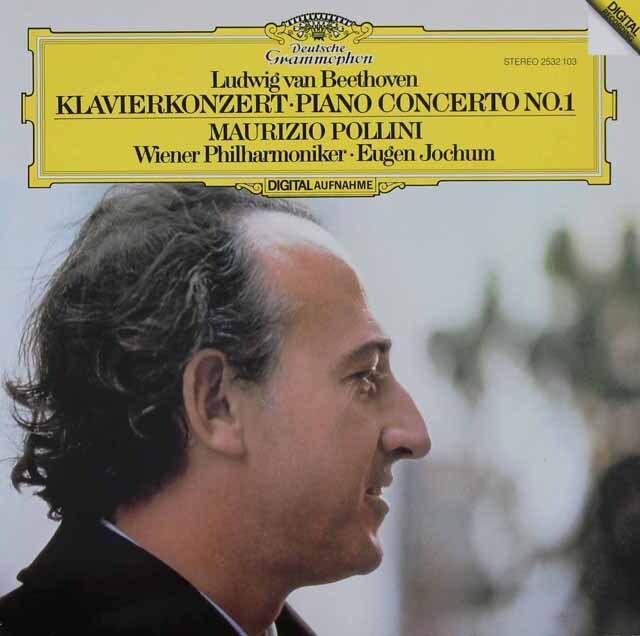 ポリーニ&ヨッフムのベートーヴェン/ピアノ協奏曲第1番 独DGG 3220 LP レコード