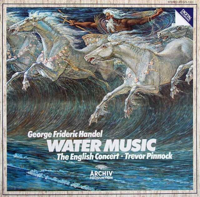 ピノックのヘンデル/「水上の音楽」全曲 独ARCHIV 3220 LP レコード