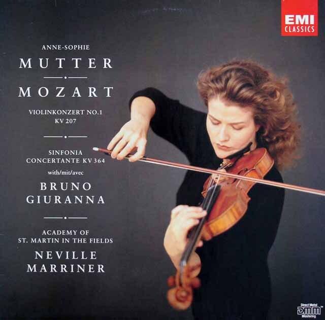 ムター&マリナーのモーツァルト/ヴァイオリン協奏曲第1番ほか 独EMI 3220 LP レコード