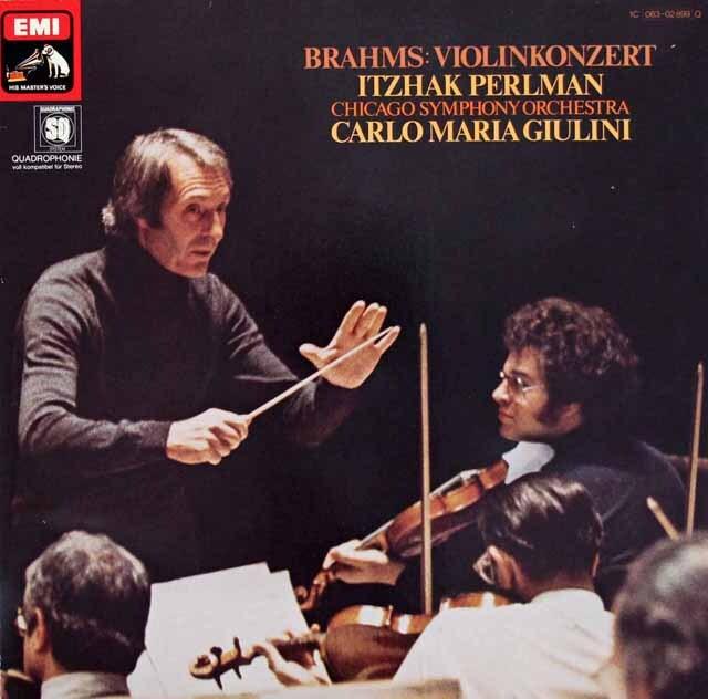 パールマン&ジュリーニのブラームス/ヴァイオリン協奏曲 独EMI 3220 LP レコード