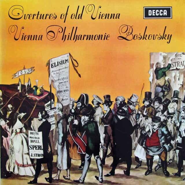 【オリジナル盤】 ボスコフスキーの序曲集 英DECCA 3220 LP レコード