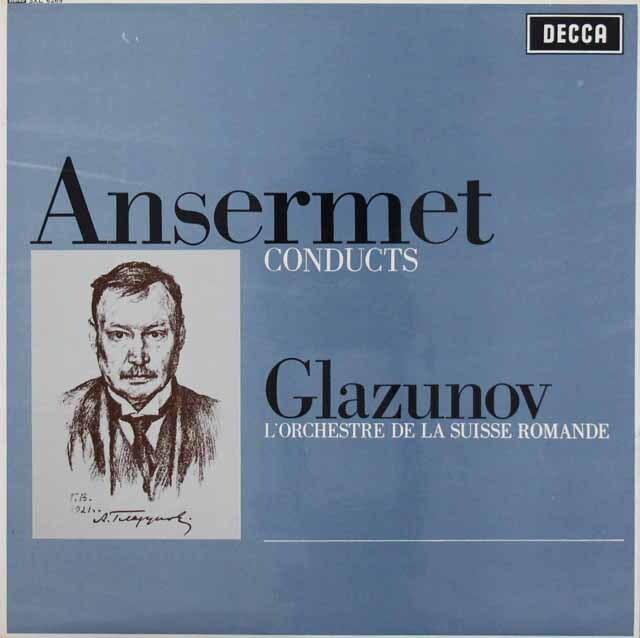 アンセルメのグラズノフ/バレエ音楽「四季」ほか 英DECCA 3220 LP レコード